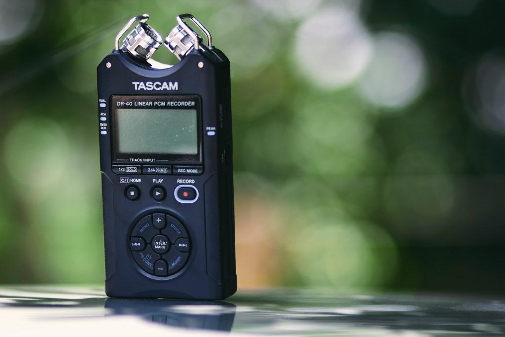 TESCAMのレコーダー