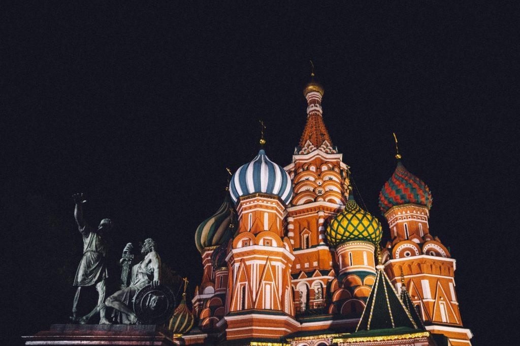 モスクワ・赤の広場にある聖ワシリイ大聖堂