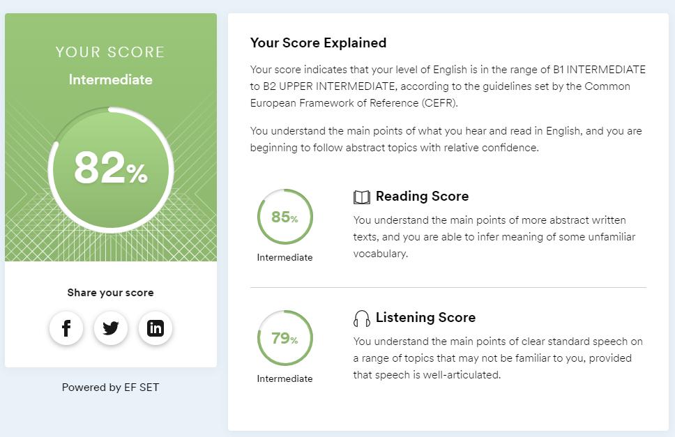 EF SETの15分テスト結果
