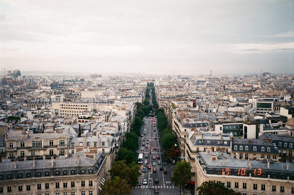 パリのエッフェル塔からの景色