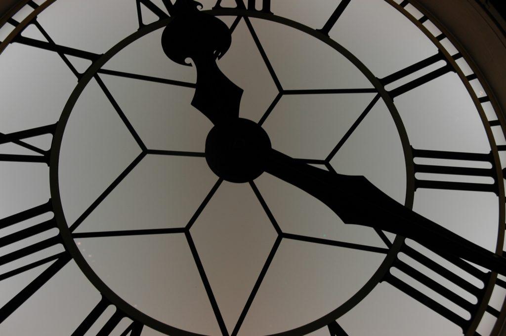 時計の文字盤のアップ