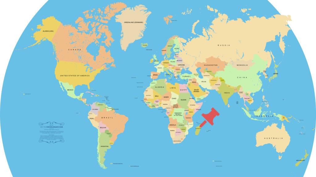 マダガスカルの位置