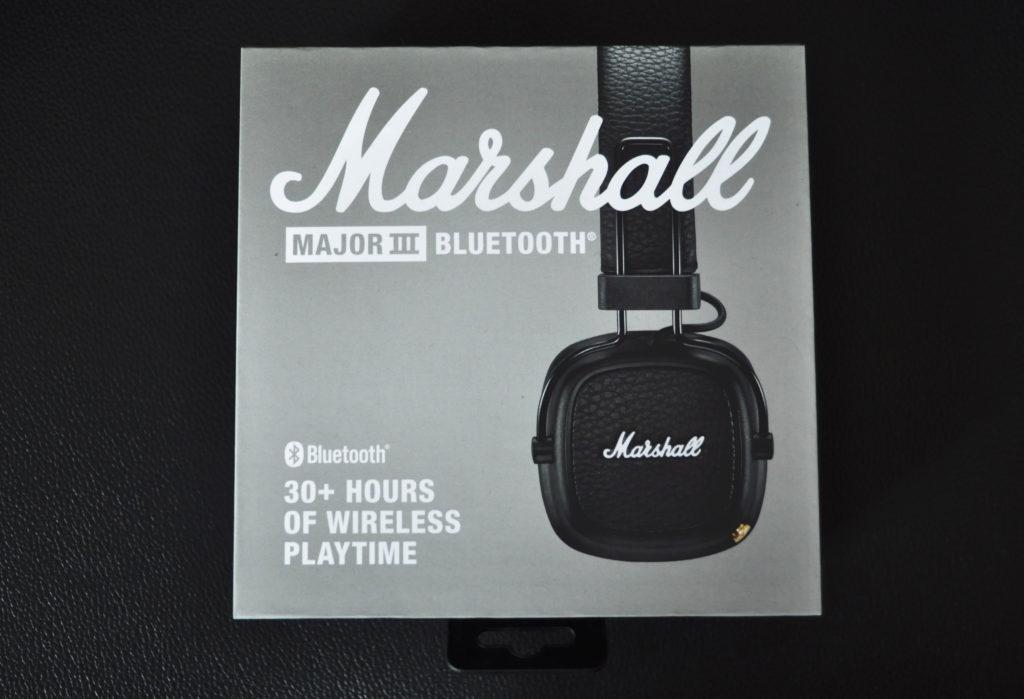 マーシャルヘッドホン『メジャー3 BLUETOOTH』の箱